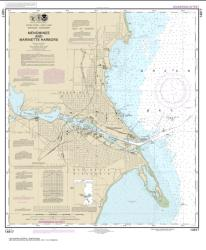 Buy map Menominee and Marinette Harbors Nautical Chart (14917) by NOAA from Wisconsin Maps Store