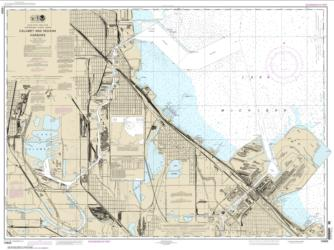 Buy map Calumet, Indiana and Buffington Harbors, and Lake Calumet Nautical Chart (14929) by NOAA from Indiana Maps Store