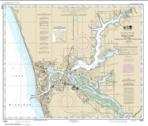 Buy map Grand Haven, including Spring Lake and Lower Grand River Nautical Chart (14933) by NOAA from United States Maps Store