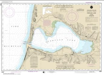 Buy map Portage Lake Nautical Chart (14939) by NOAA from Michigan Maps Store