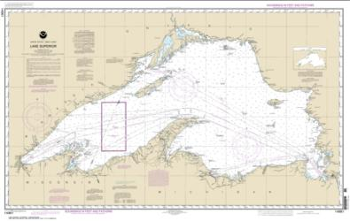 Buy map Lake Superior (Mercator Projection) Nautical Chart (14961) by NOAA from United States Maps Store