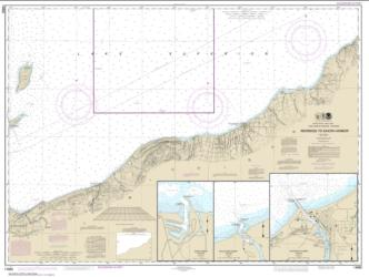 Buy map Redridge to Saxon Harbor; Ontonagon harbor; Black River Harbor; Saxon Harbor Nautical Chart (14965) by NOAA from Wisconsin Maps Store