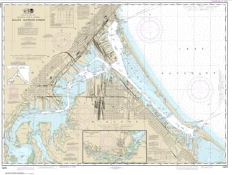 Buy map Duluth-Superior Harbor; Upper St. Louis River Nautical Chart (14975) by NOAA from Minnesota Maps Store