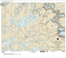 Buy map Sea Gull Lake Nautical Chart (14984) by NOAA from Minnesota Maps Store