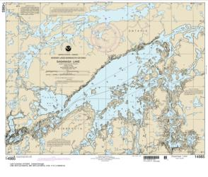 Buy map Saganaga Lake Nautical Chart (14985) by NOAA from Minnesota Maps Store