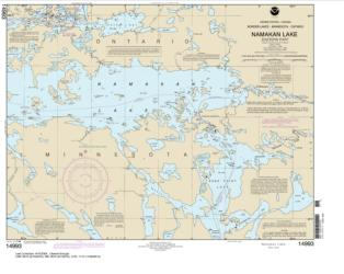 Buy map Namakan Lake, Eastern Part Nautical Chart (14993) by NOAA from Ontario Maps Store