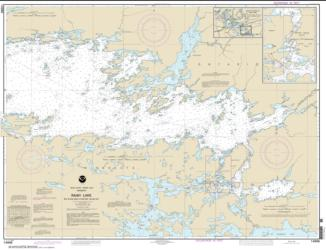 Buy map Rainy Lake-Big Island, Minn., to Oakpoint Island, Ont.; Kettle Falls Nautical Chart (14996) by NOAA from Minnesota Maps Store