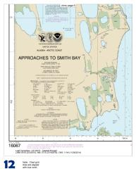 Buy map Approaches to Smith  Bay Nautical Chart (16067) by NOAA from Alaska Maps Store