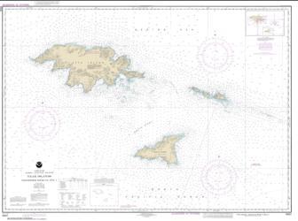 Buy map Ingenstrem Rocks to Attu Island Nautical Chart (16421) by NOAA from Alaska Maps Store