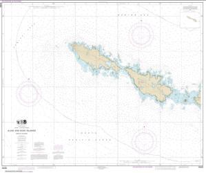 Buy map Semichi Islands Alaid and Nizki Islands Nautical Chart (16435) by NOAA from Alaska Maps Store