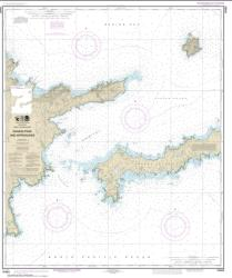 Buy map Kanaga Pass and approaches Nautical Chart (16463) by NOAA from Alaska Maps Store