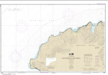 Buy map Cape Kavrizhka to Cape Cheerful Nautical Chart (16518) by NOAA from Alaska Maps Store