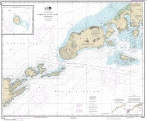 Buy map Unimak and Akutan Passes and approaches; Amak Island Nautical Chart (16520) by NOAA from Alaska Maps Store