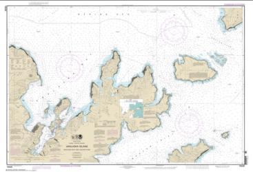 Buy map Unalaska Bay and Akutan Pass Nautical Chart (16528) by NOAA from Alaska Maps Store