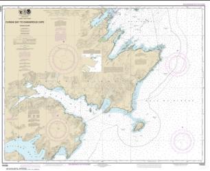 Buy map Chiniak Bay to Dangerous Cape Nautical Chart (16593) by NOAA from Alaska Maps Store