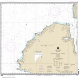 Buy map Cape Ikolik to Cape Kuliuk Nautical Chart (16598) by NOAA from Alaska Maps Store