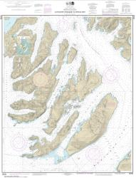 Buy map Latouche Passage to Whale Bay Nautical Chart (16702) by NOAA from Alaska Maps Store