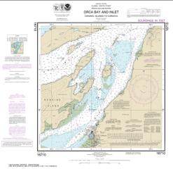 Buy map Orca B. and ln.-Channel ls. to Cordova Nautical Chart (16710) by NOAA from Alaska Maps Store