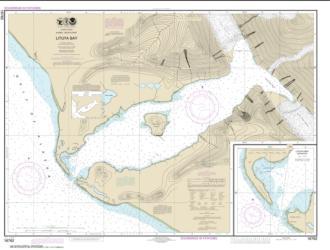 Buy map Lituya Bay; Lituya Bay Entrance Nautical Chart (16762) by NOAA from Alaska Maps Store