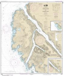 Buy map Yakobi Island and Lisianski Inlet; Pelican Harbor Nautical Chart (17303) by NOAA from Alaska Maps Store