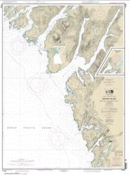 Buy map Snipe Bay to Crawfish Inlet,Baranof l. Nautical Chart (17328) by NOAA from Alaska Maps Store
