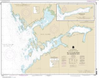 Buy map Bay of Pillars and Rowan Bay, Chatham Strait; Washington Bay, Chatham Strait Nautical Chart (17370) by NOAA from Alaska Maps Store