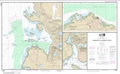 Buy map Harbors in Clarence Strait Port Chester, Annette Island; Tamgas Harbor, Annette Island; Metlakatla Harbor Nautical Chart (17435) by NOAA from Alaska Maps Store
