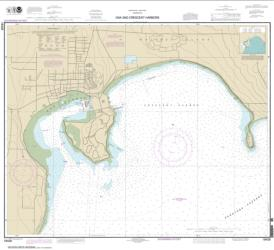 Buy map Oak and Crescent Harbors Nautical Chart (18428) by NOAA from Washington Maps Store