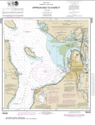 Buy map Approaches to Everett Nautical Chart (18443) by NOAA from Washington Maps Store