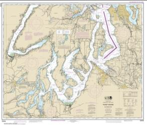 Buy map Puget Sound-southern part Nautical Chart (18448) by NOAA from Washington Maps Store