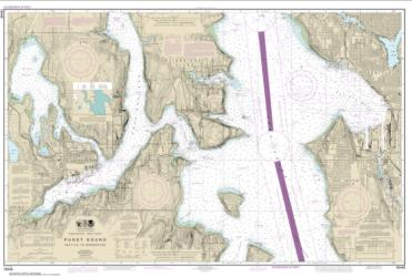 Buy map Puget Sound-Seattle to Bremerton Nautical Chart (18449) by NOAA from Washington Maps Store