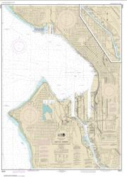 Buy map Seattle Harbor, Elliott Bay and Duwamish Waterway Nautical Chart (18450) by NOAA from Washington Maps Store