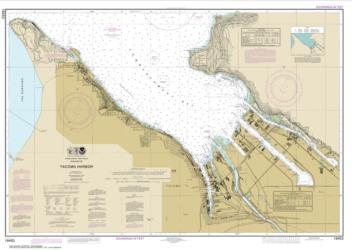 Buy map Tacoma Harbor Nautical Chart (18453) by NOAA from Washington Maps Store