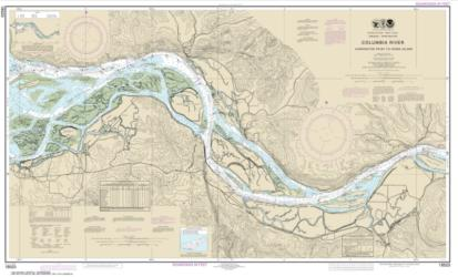 Buy map Columbia River Harrington Point to Crims Island Nautical Chart (18523) by NOAA from Washington Maps Store