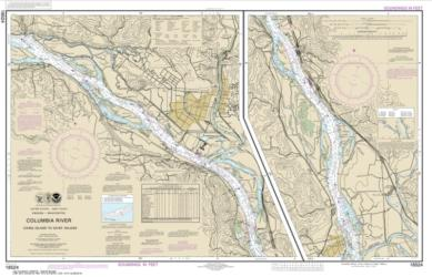 Buy map Columbia River Crims Island to Saint Helens Nautical Chart (18524) by NOAA from Washington Maps Store