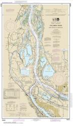 Buy map Columbia River Saint Helens to Vancouver Nautical Chart (18525) by NOAA from Washington Maps Store
