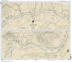 Buy map Willamette River  Walnut Eddy To Newburg Nautical Chart (18529) by NOAA from Oregon Maps Store