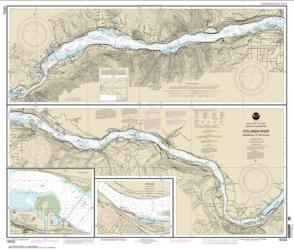Buy map Columbia River Bonneville To The Dalles; The Dalles; Hood River Nautical Chart (18532) by NOAA from Oregon Maps Store