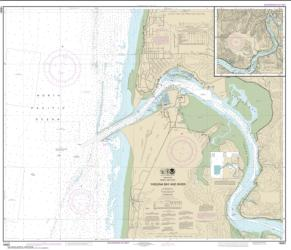Buy map Yaquina Bay and River; Continuation of Yaquina River Nautical Chart (18581) by NOAA from Oregon Maps Store