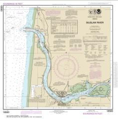 Buy map Siuslaw River Nautical Chart (18583) by NOAA from Oregon Maps Store