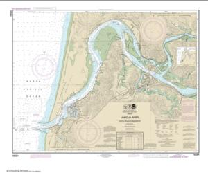 Buy map Umpqua River Pacific Ocean to Reedsport Nautical Chart (18584) by NOAA from Oregon Maps Store