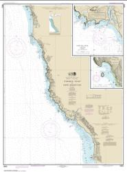 Buy map Pyramid Point to Cape Sebastian; Chetco Cove; Hunters Cove Nautical Chart (18602) by NOAA from Oregon Maps Store