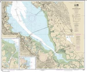 Buy map San Francisco Bay-southern part; Redwood Creek.; Oyster Point Nautical Chart (18651) by NOAA from United States Maps Store