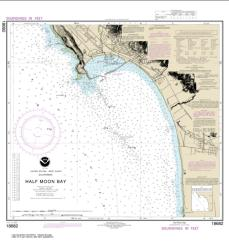 Buy map Half Moon Bay Nautical Chart (18682) by NOAA from United States Maps Store