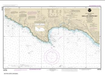 Buy map San Luis Obispo Bay, Port San Luis Nautical Chart (18704) by NOAA from United States Maps Store