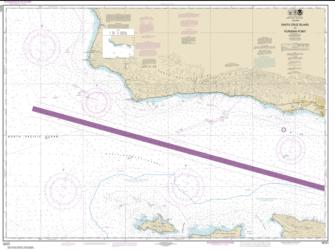 Buy map Santa Cruz Island to Purisima Point Nautical Chart (18721) by NOAA from United States Maps Store