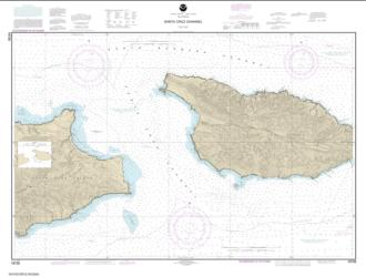 Buy map Santa Cruz Channel Nautical Chart (18728) by NOAA from United States Maps Store