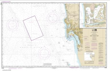 Buy map Approaches to San Diego Bay; Mission Bay Nautical Chart (18765) by NOAA from United States Maps Store