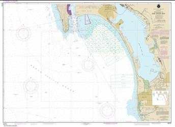 Buy map Approaches to San Diego Bay Nautical Chart (18772) by NOAA from United States Maps Store