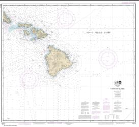 Buy map Hawaiian Islands southern part Nautical Chart (19010) by NOAA from United States Maps Store